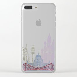 Kolkata skyline poster Clear iPhone Case