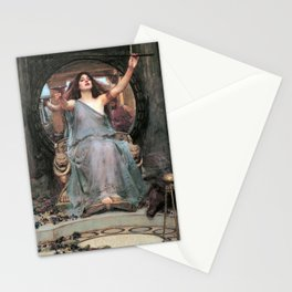 Circe offering the Cup to Odysseus - John William Waterhouse Stationery Cards
