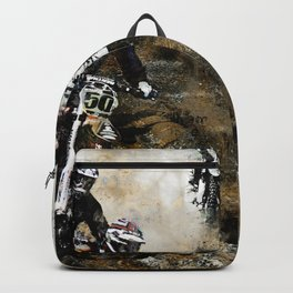 """Dare to Race"" Motocross Dirt-Bike Racers Backpack"