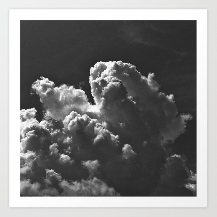 Clouds B&W Vo1 Art Print