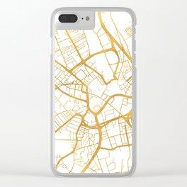 BRADFORD ENGLAND CITY STREET MAP ART Clear iPhone Case