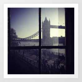 London Bridge from the tower of London Art Print