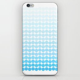 Blue Polk-a-dot Craze! iPhone Skin