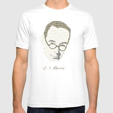 C.S. Lewis MEDIUM Mens Fitted Tee White
