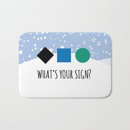 What's Your Sign? Bath Mat