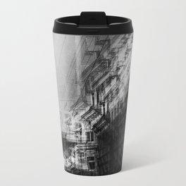 city in monochrome Travel Mug