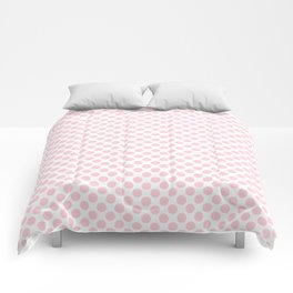 Large Light Soft Pastel Pink Spots on White Comforters
