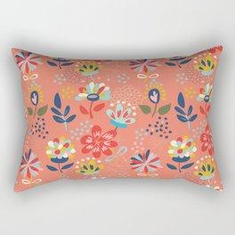 Pretty Floral Rectangular Pillow