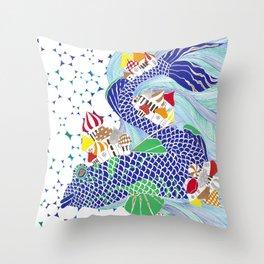 Ryba-Kit or Whale-Fish Throw Pillow