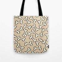 bones Tote Bags featuring Bones by Jessica Santos
