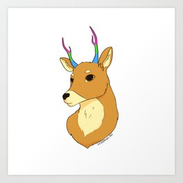 Polysexual Pride Deer Art Print