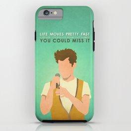 Ferris Bueller (80's Minimalism Series) iPhone Case