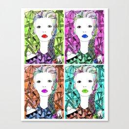 Rainbow Riot Girlz. Quadrupletz.  Canvas Print