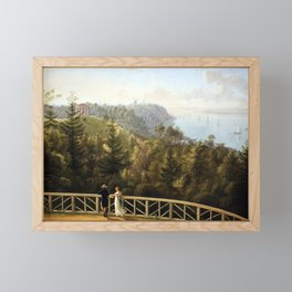 Ludwig Philipp Strack View from Baurs Hamburg Framed Mini Art Print