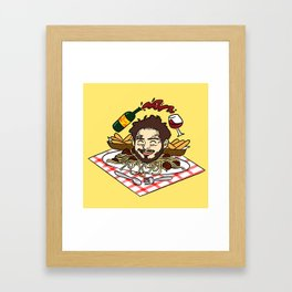 Breadstick Posty Framed Art Print