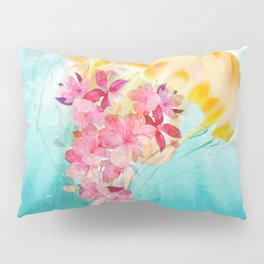 Jellyfish with Flowers Pillow Sham
