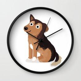 """Custom Dog Art """"Izzy"""" Wall Clock"""