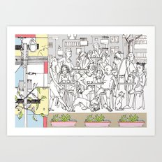 Coffee Scene Art Print