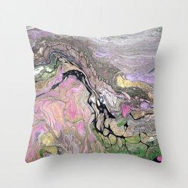 Pink Fluid Throw Pillow