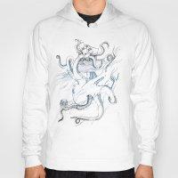 kraken Hoodies featuring Kraken by Kyle Naylor