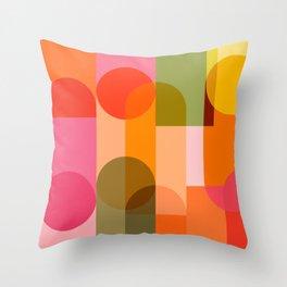 Ping Pong - brights Throw Pillow