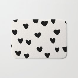 Big Hearts Brush Strokes Pattern Bath Mat