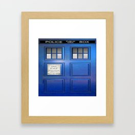 doctor who public box  Framed Art Print