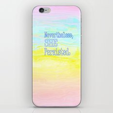 She Persisted iPhone & iPod Skin