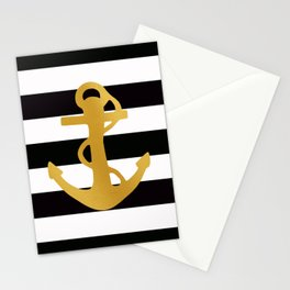 Gold Anchor Stationery Cards