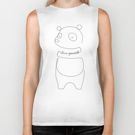 Love Yourself Panda Biker Tank