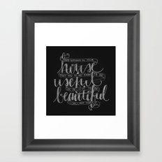 Have nothing in your house... Framed Art Print