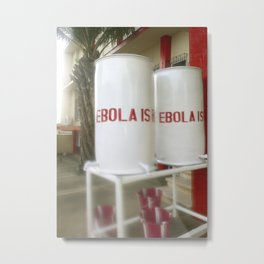 Chlorinated water containers captured West African Ebola outbreak Metal Print