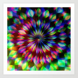 Psychedelic Rainbow Swirl Art Print