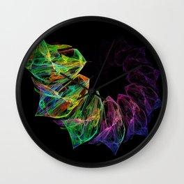 Fractal petals Wall Clock