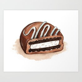 Chocolate Covered Cookie Art Print