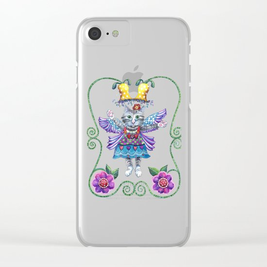 Angel Kitty Clear iPhone Case