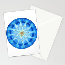 Frequency Imprint: True Self Alignment. Watercolor Mandala Stationery Cards