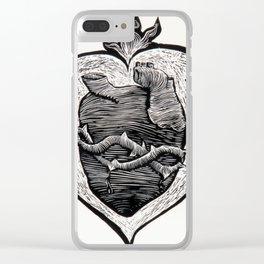 Sagrado Corazón. Sacred Heart. Clear iPhone Case