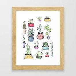 Plants and Cacti Framed Art Print