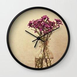 Floral ~ vintage Wall Clock