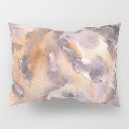 Soft Texture Watercolor | [Grief] Overwhelmed Pillow Sham