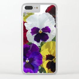 Pansies! Clear iPhone Case
