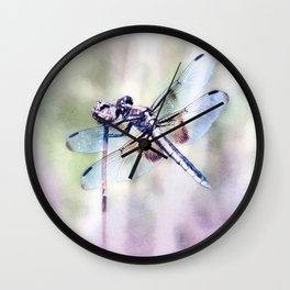 Dragonfly in Pastels Wall Clock