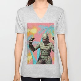Creature of the pastel lagoon Unisex V-Neck
