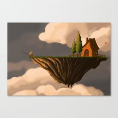 Fishing in the Clouds Canvas Print