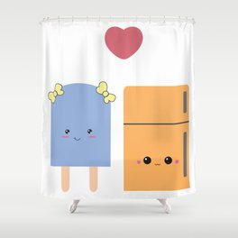 popsi and fridgie Shower Curtain