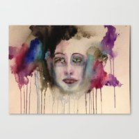 depression Canvas Prints featuring Depression by Hannah Brownfield Camacho