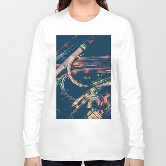 City in the sky fantastic Long Sleeve T-shirt