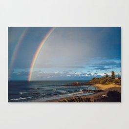 Double Rainbow Canvas Print