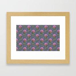 Burdock Flower Pattern Framed Art Print
